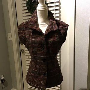 CAbi wool blend vest